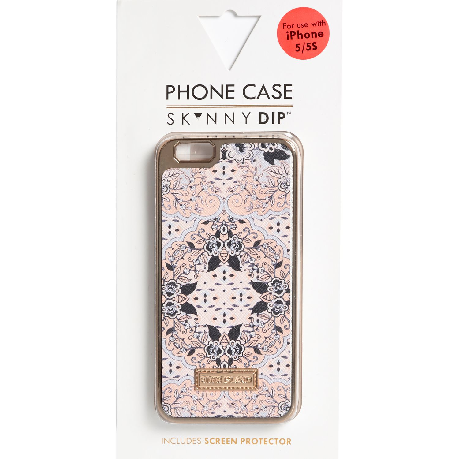 River Island Pink Printed Iphone 5 Phone Case In Blue Lyst