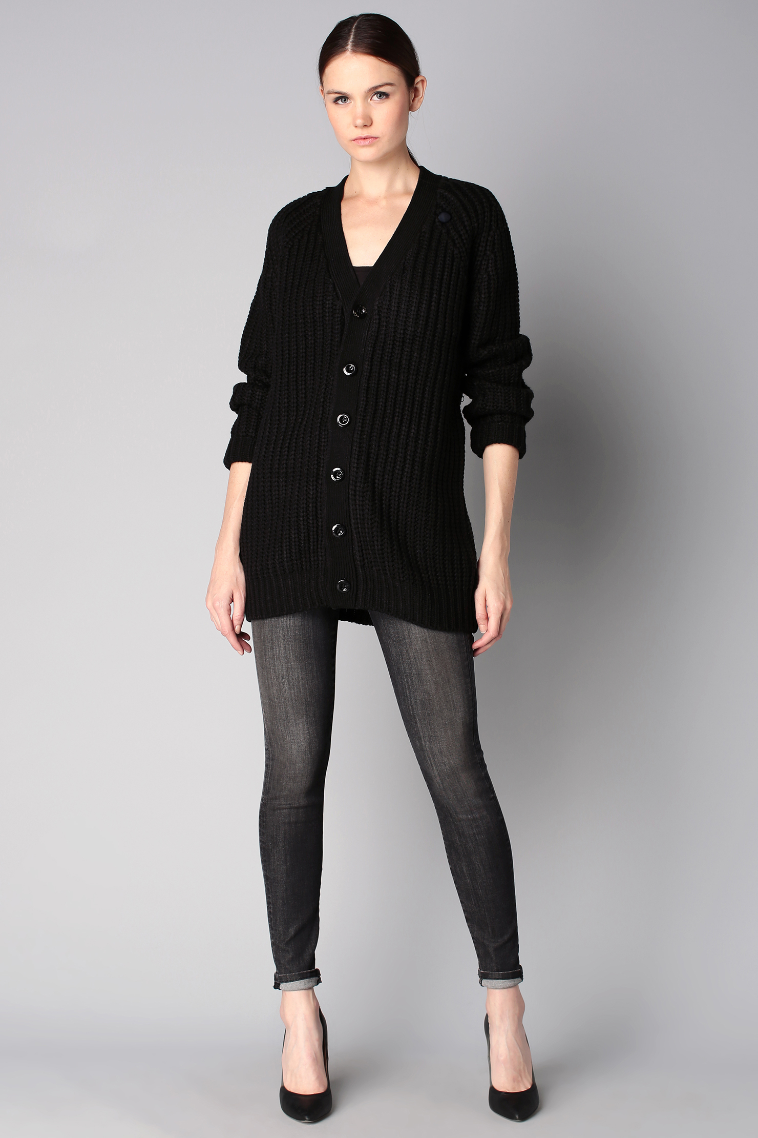 g star raw cardigan in black lyst. Black Bedroom Furniture Sets. Home Design Ideas