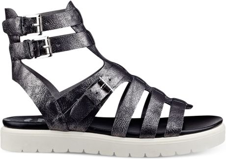 G By Guess Womens Mexico Flatform Gladiator Sandals In