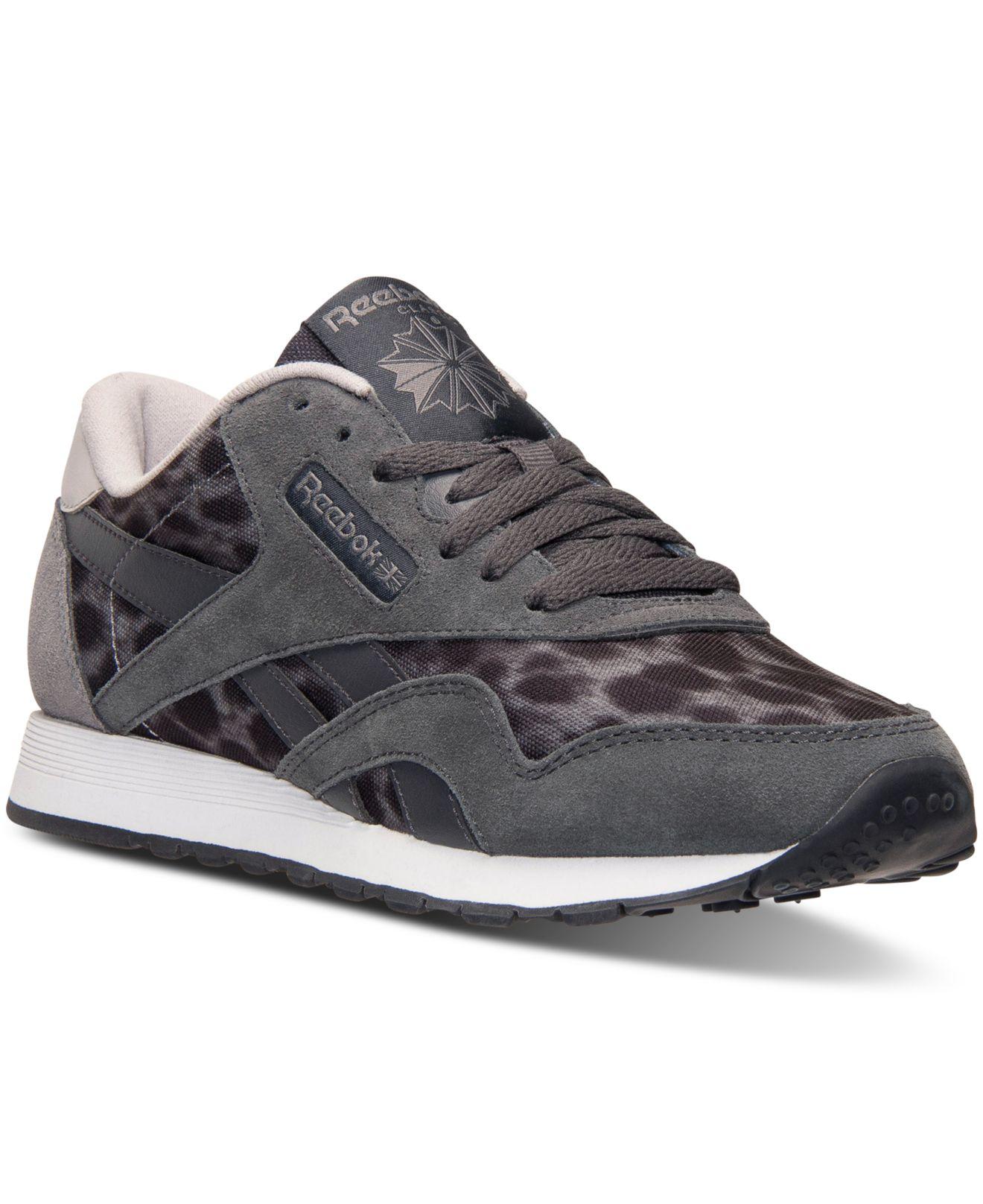 promo code 84540 66ea5 Reebok Women s Classic Nylon Wild Casual Sneakers From Finish Line ...
