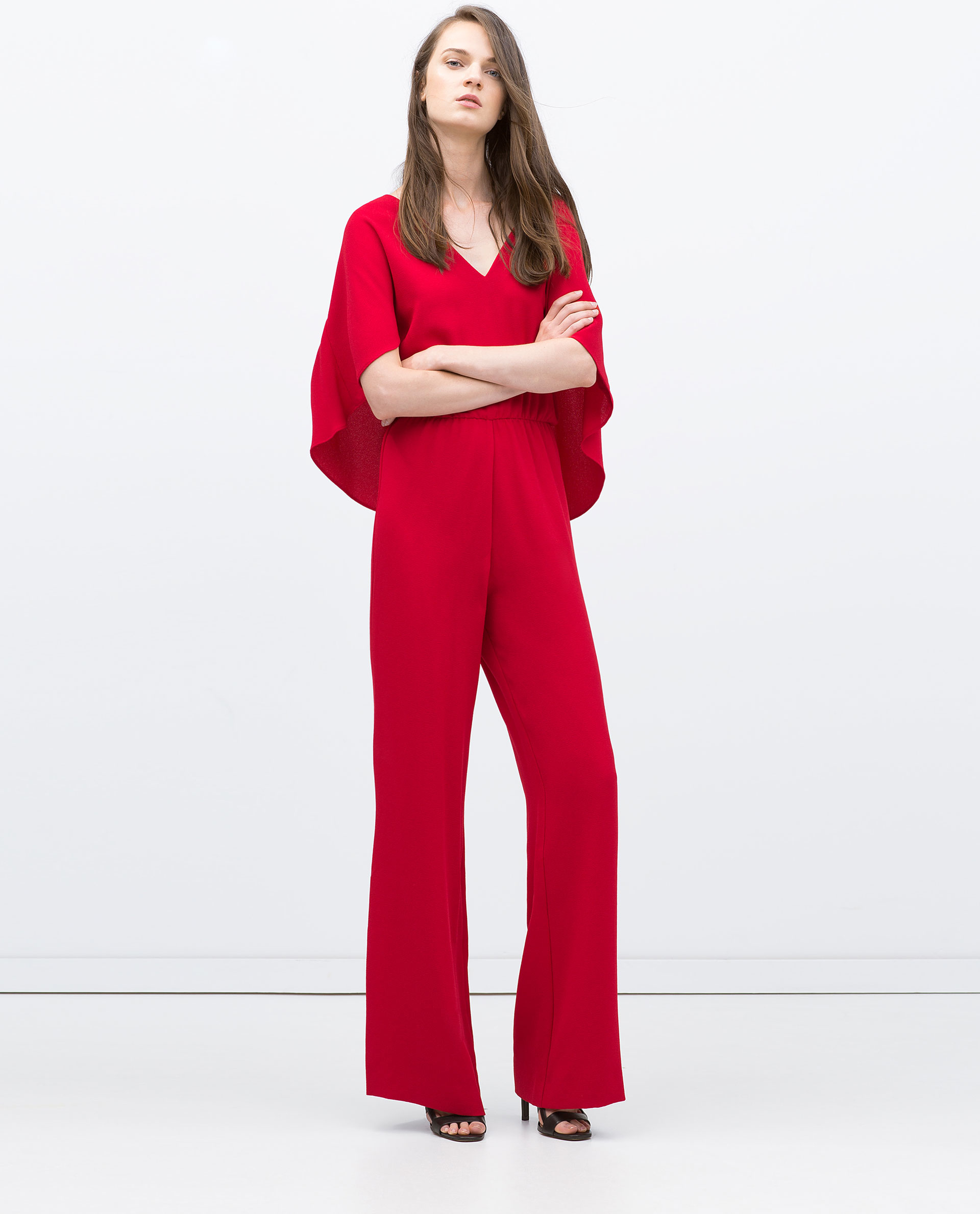 Red Cape Jumpsuit | Fashion Ql