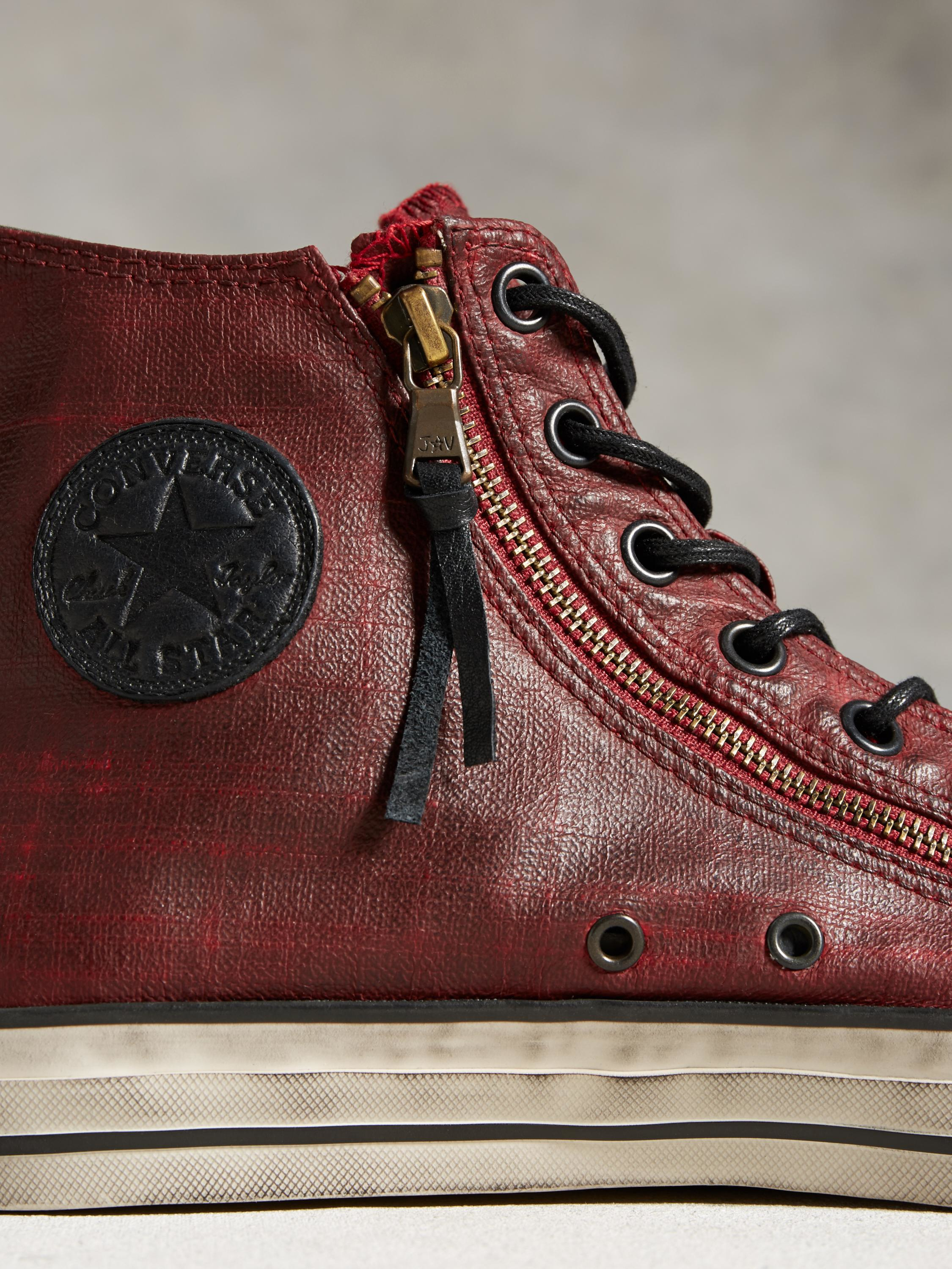 b22de426676d ... new arrivals lyst john varvatos chuck taylor all star painted double zip  in red 1c565 8bc93