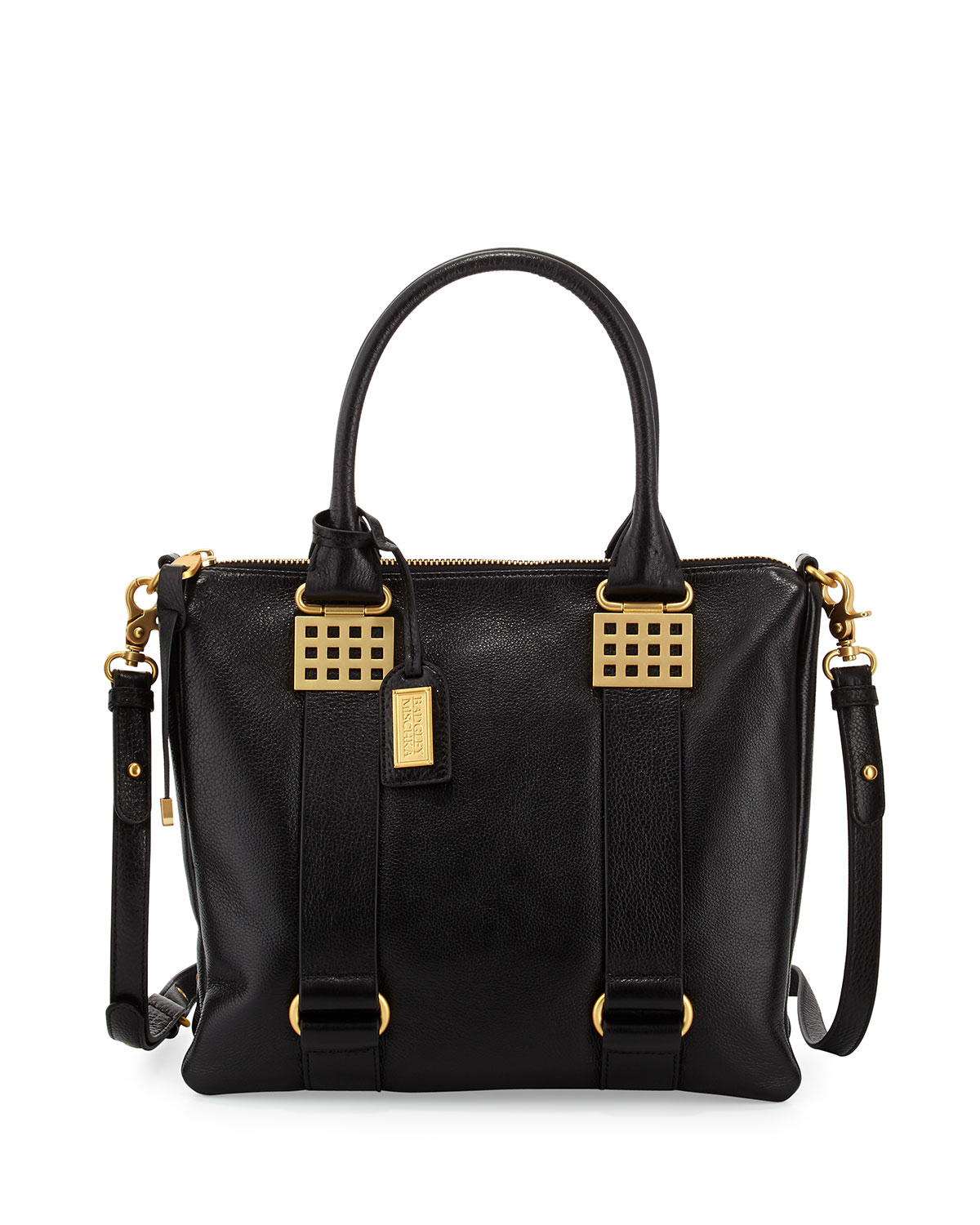 Badgley mischka Ally Leather Tote Bag in Black