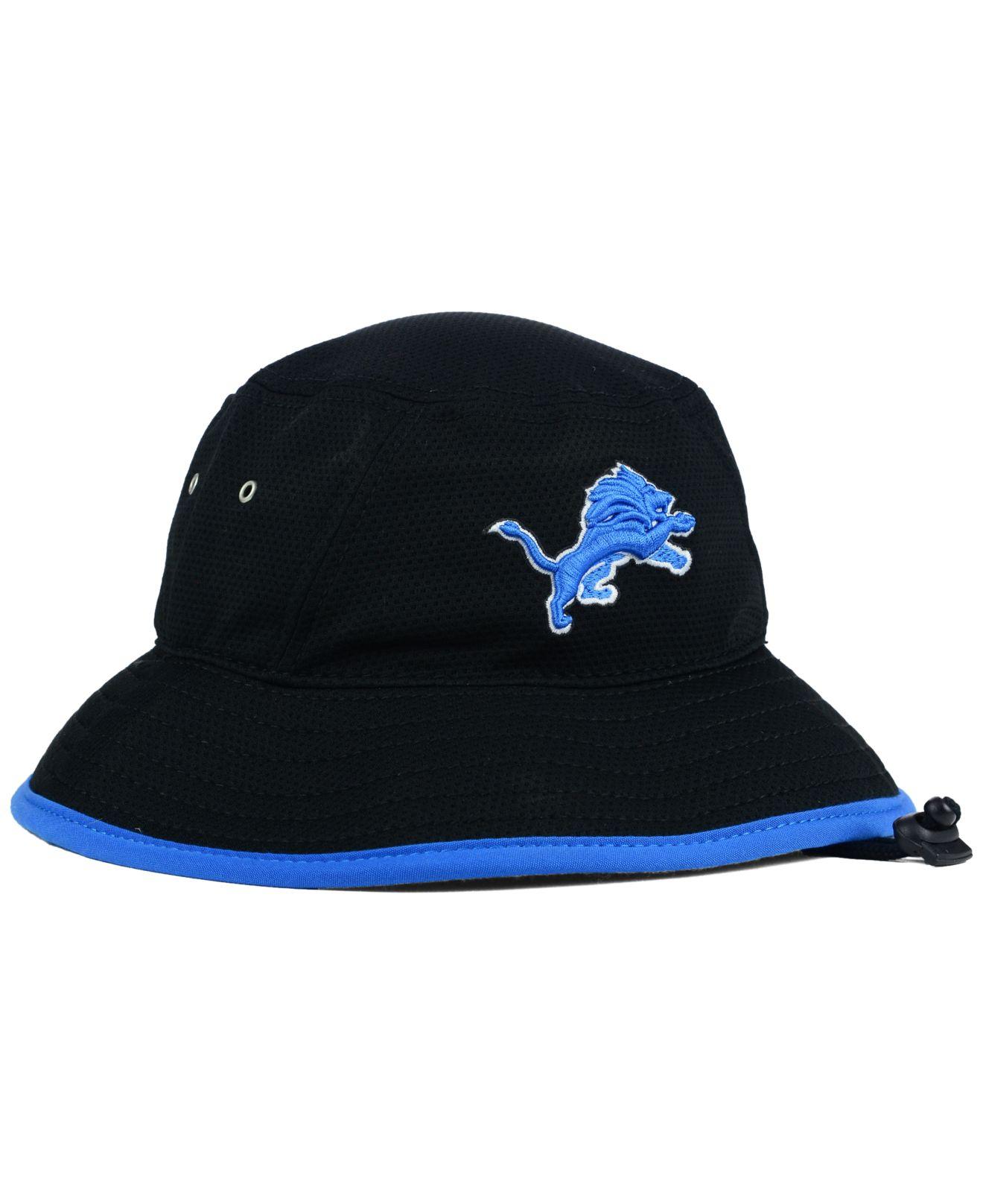 ktz detroit lions training bucket hat in black for men lyst