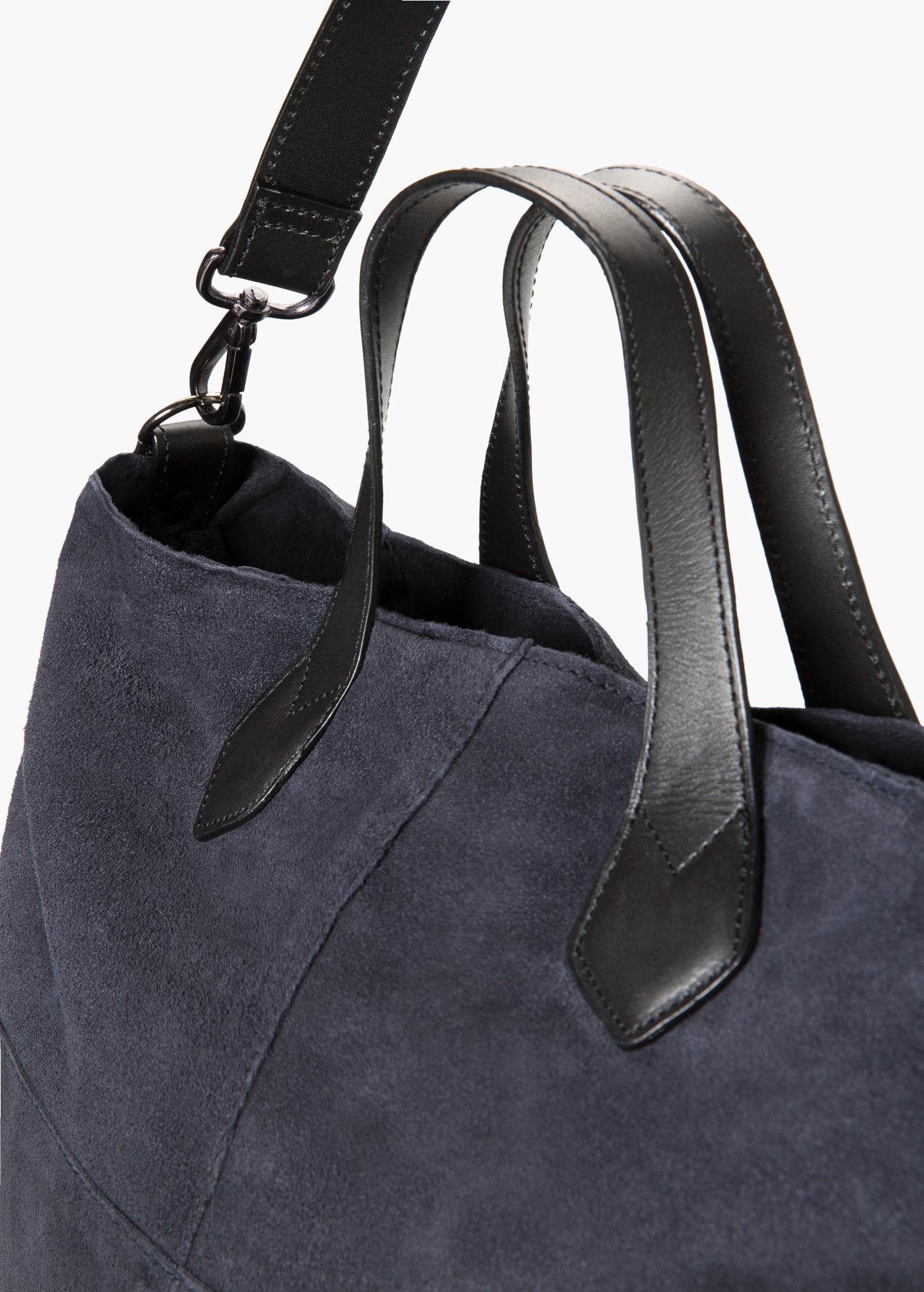 1a400e3ac3bd9 Lyst - Mango Suede Shopper Bag in Blue