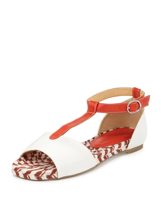 Lyst Carolina Herrera Flat Espadrille Sandal In Red