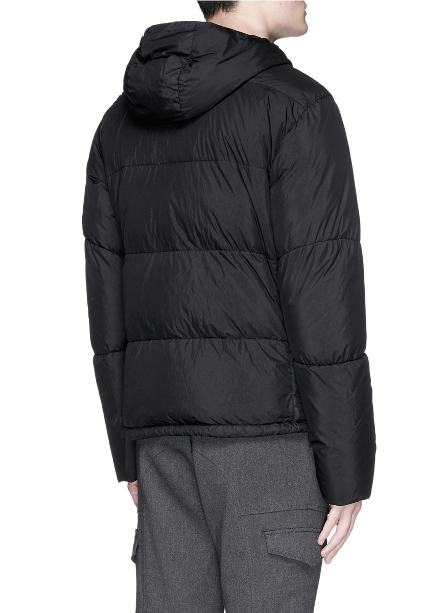 Stone Island - Black Crinkle Reps Water-Resistant Quilted Jacket for ...