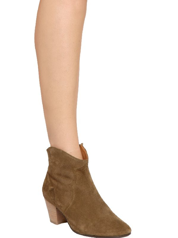 Isabel Marant Leather Dicker Ankle Boots in Green (Black) - Save 67%
