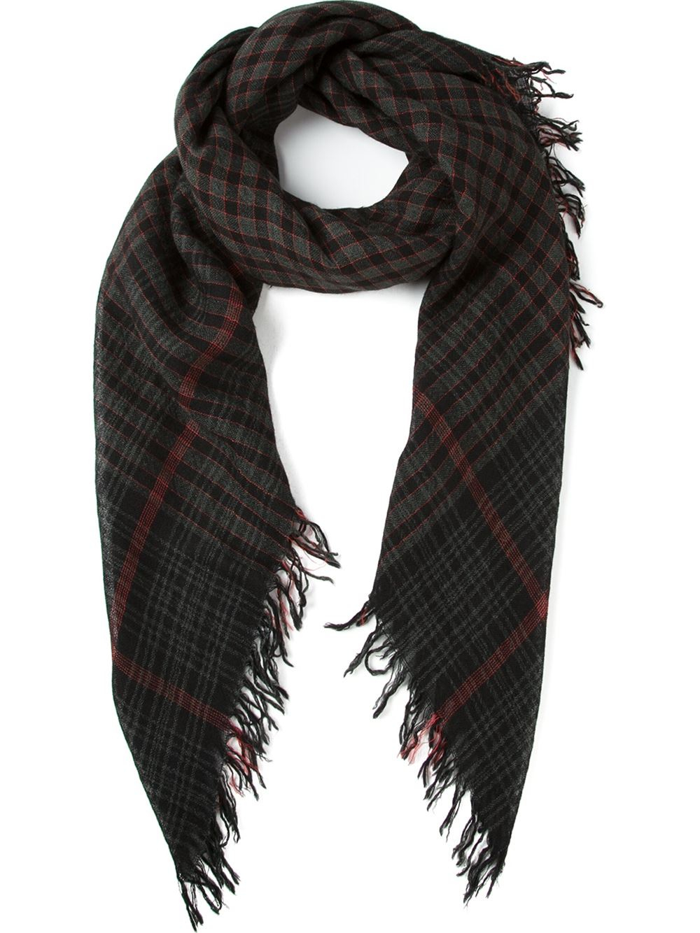 faliero sarti ninfax small check scarf in blue lyst