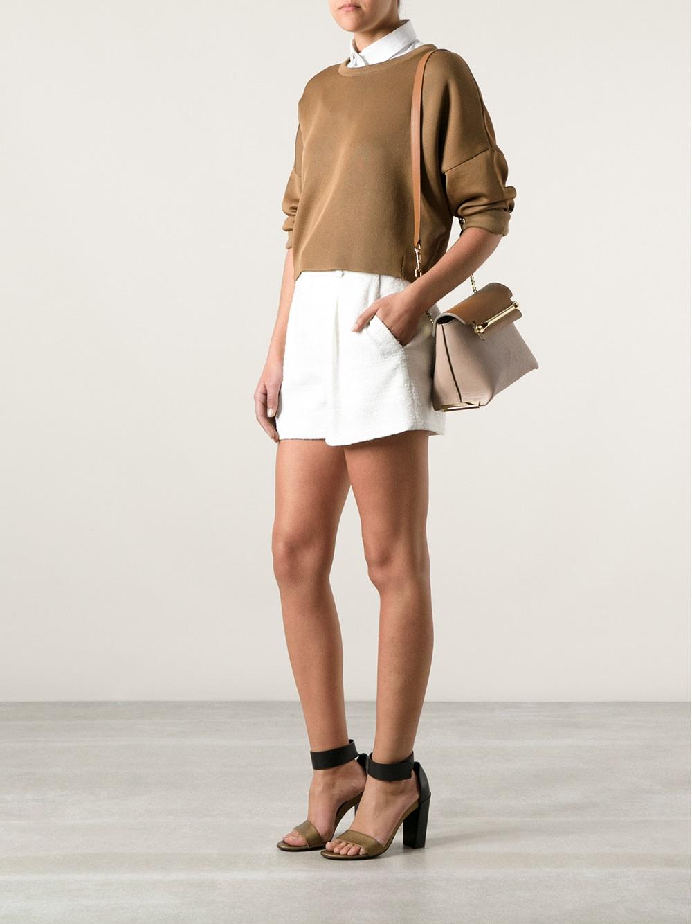 Chlo¨¦ Small \u0026#39;Clare\u0026#39; Shoulder Bag in Brown | Lyst