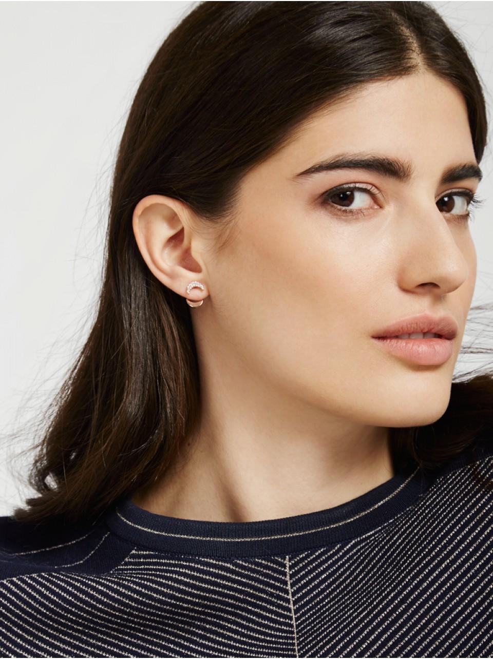 BaubleBar Graphic Ear Jacket Set -rose Gold in Metallic