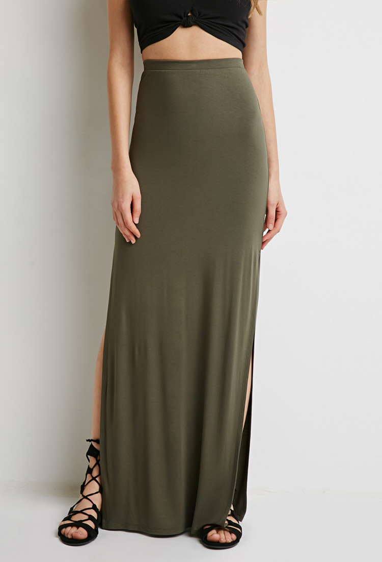 Forever 21 Side-slit Maxi Skirt You've Been Added To The Waitlist ...