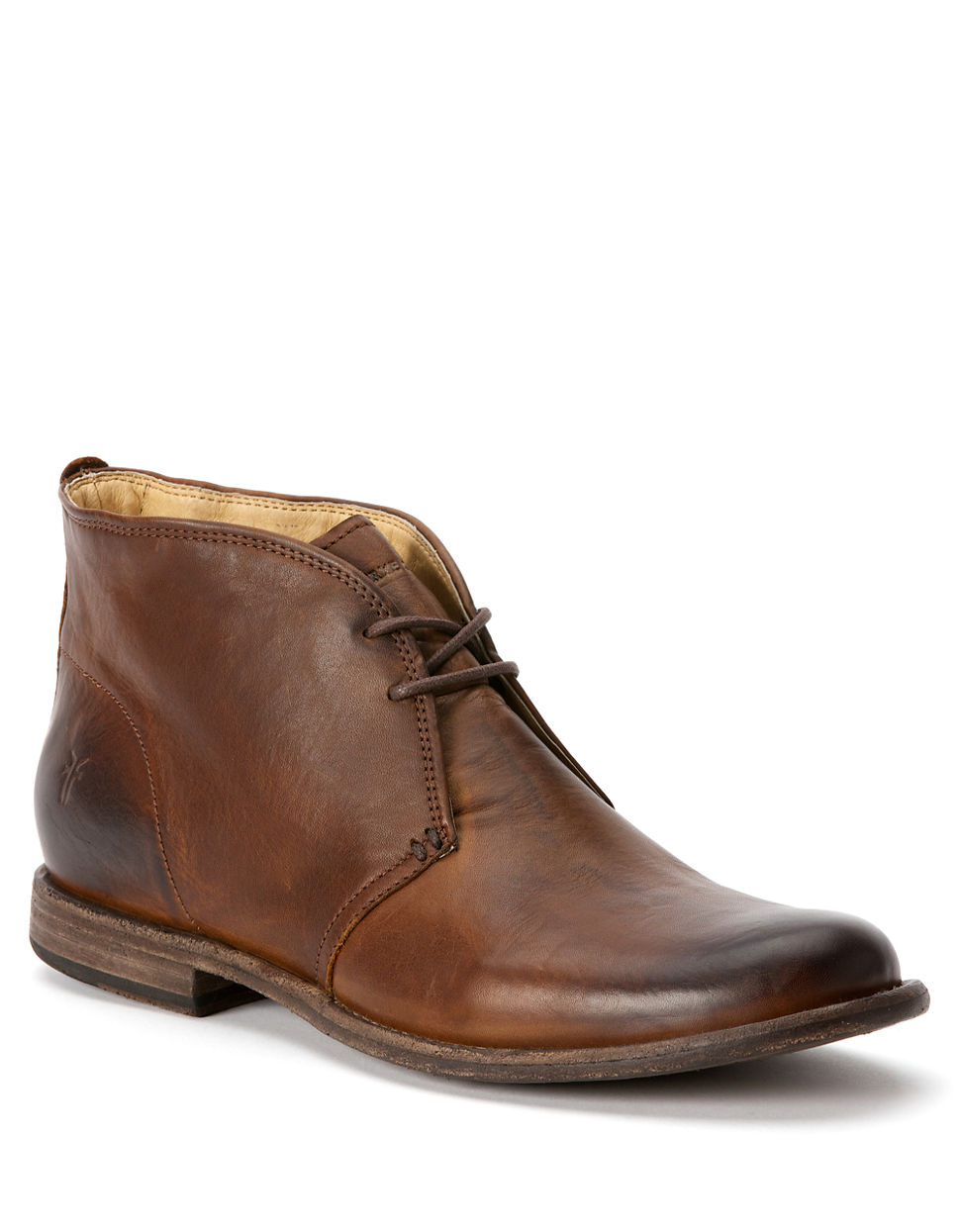 frye phillip leather chukka boots in brown for lyst