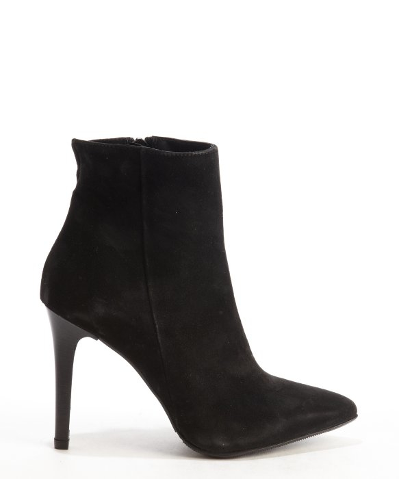 Charles david Black Suede 'dubio' Stiletto Ankle Boots in Black | Lyst