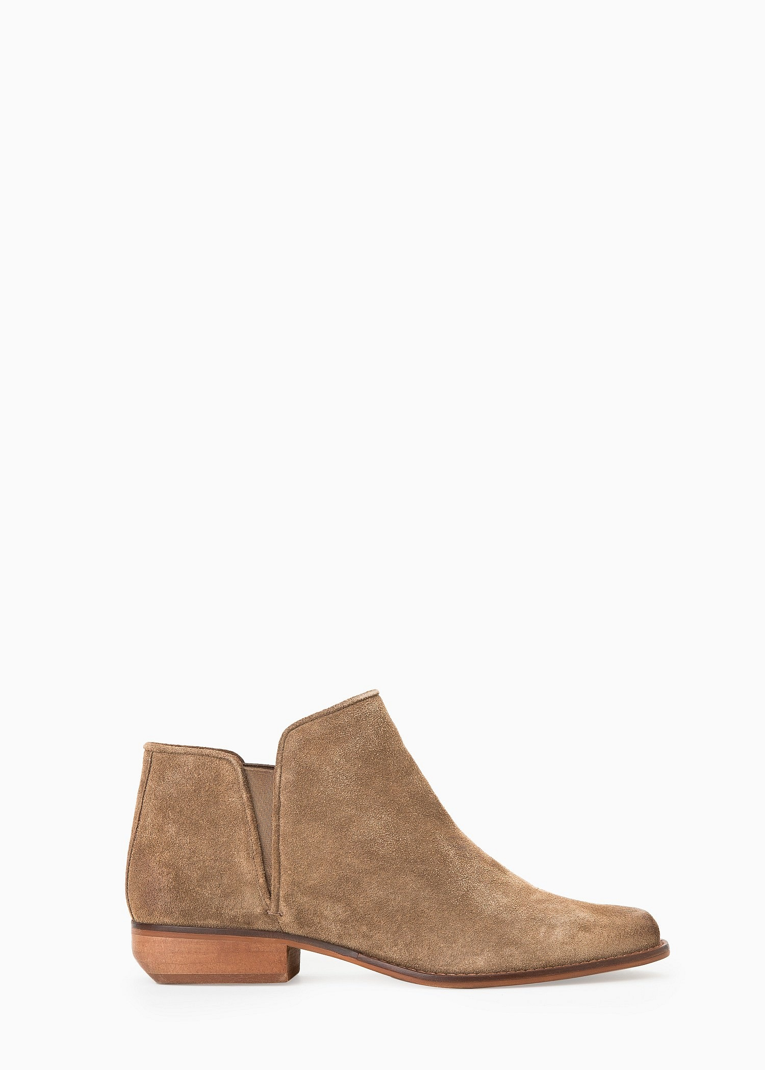 76101611667b Lyst - Mango Flat Suede Ankle Boots in Natural