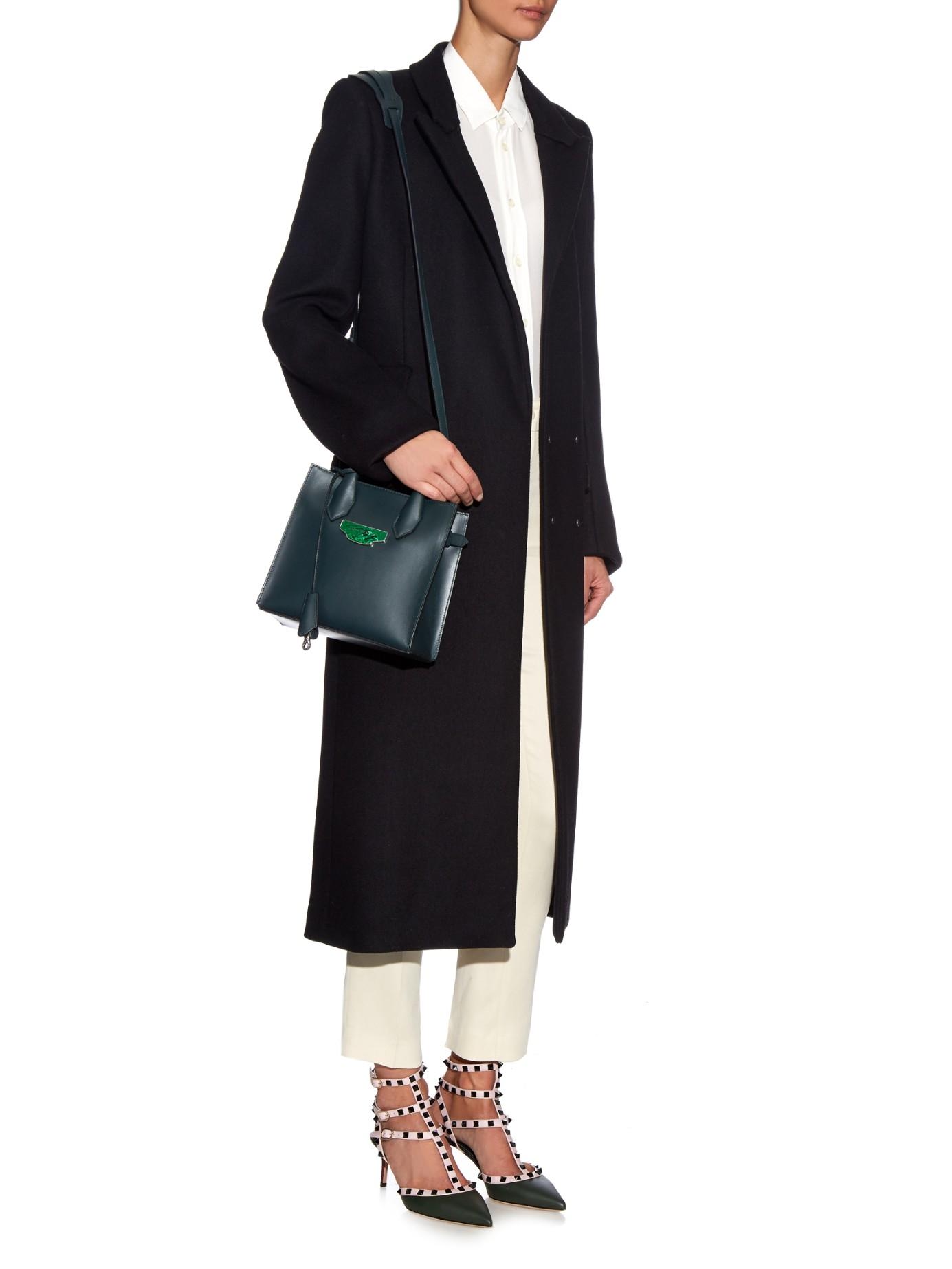 Balenciaga Leather Nude Mini All Afternoon Cross-body Bag in Green