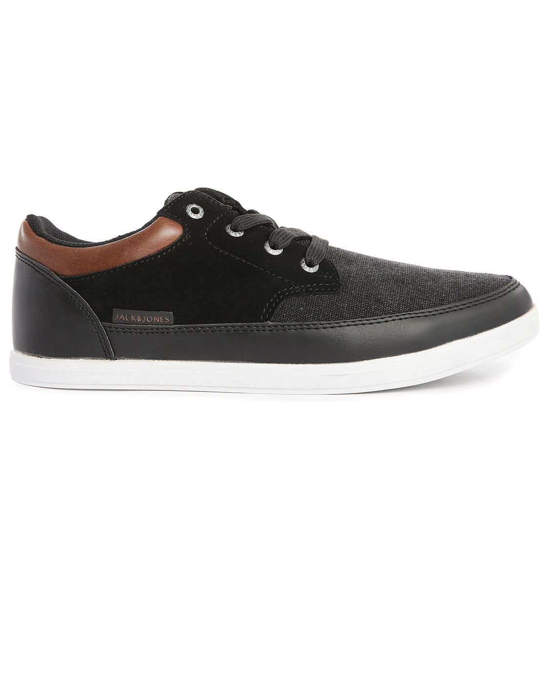 jack jones brad black dual fabric sneakers for men lyst. Black Bedroom Furniture Sets. Home Design Ideas