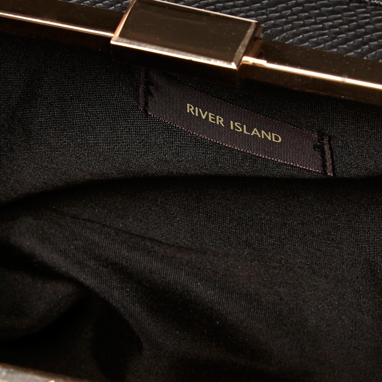 River Island Black Mini Box Tote Handbag