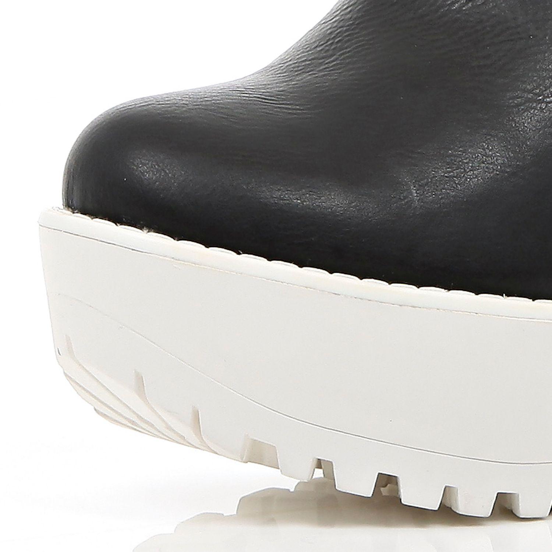 0b3a0b4e609 River Island Black Two-tone Cleated Sole Platform Boots