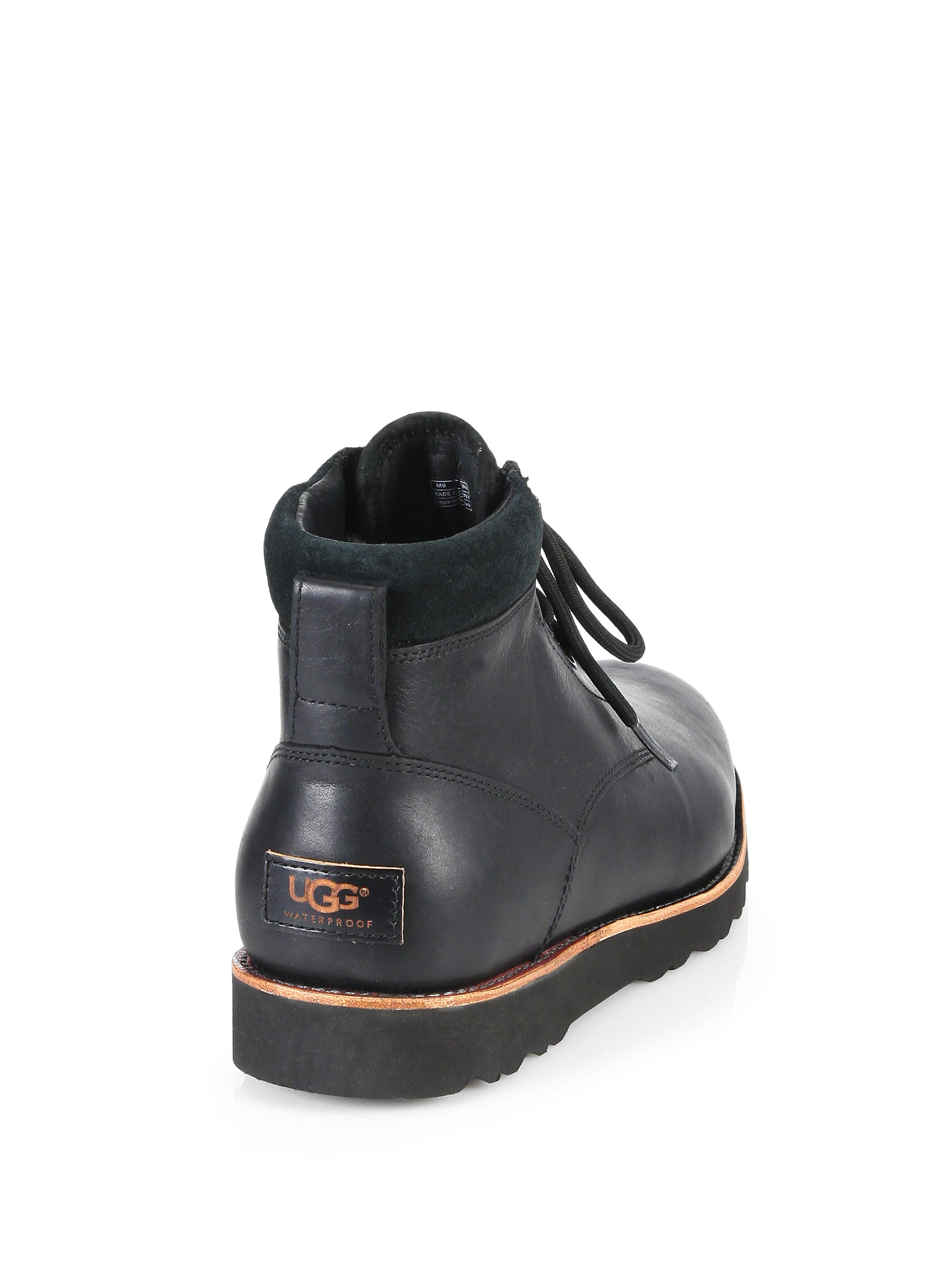 8a04ab64024 UGG Black Seton Leather Lace-Up Boots for men