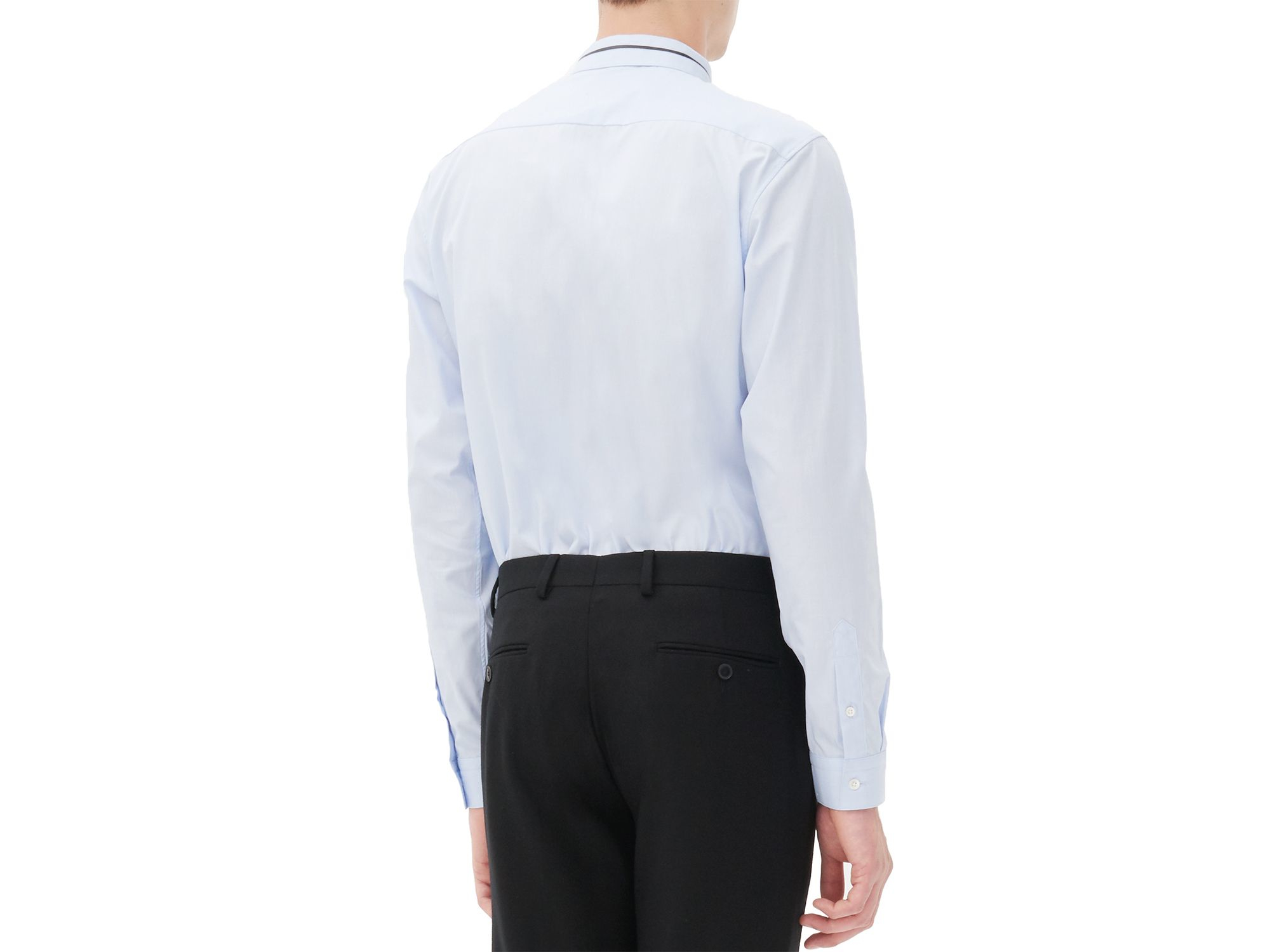 Lyst Sandro Orchestra Slim Fit Button Down Shirt In Blue