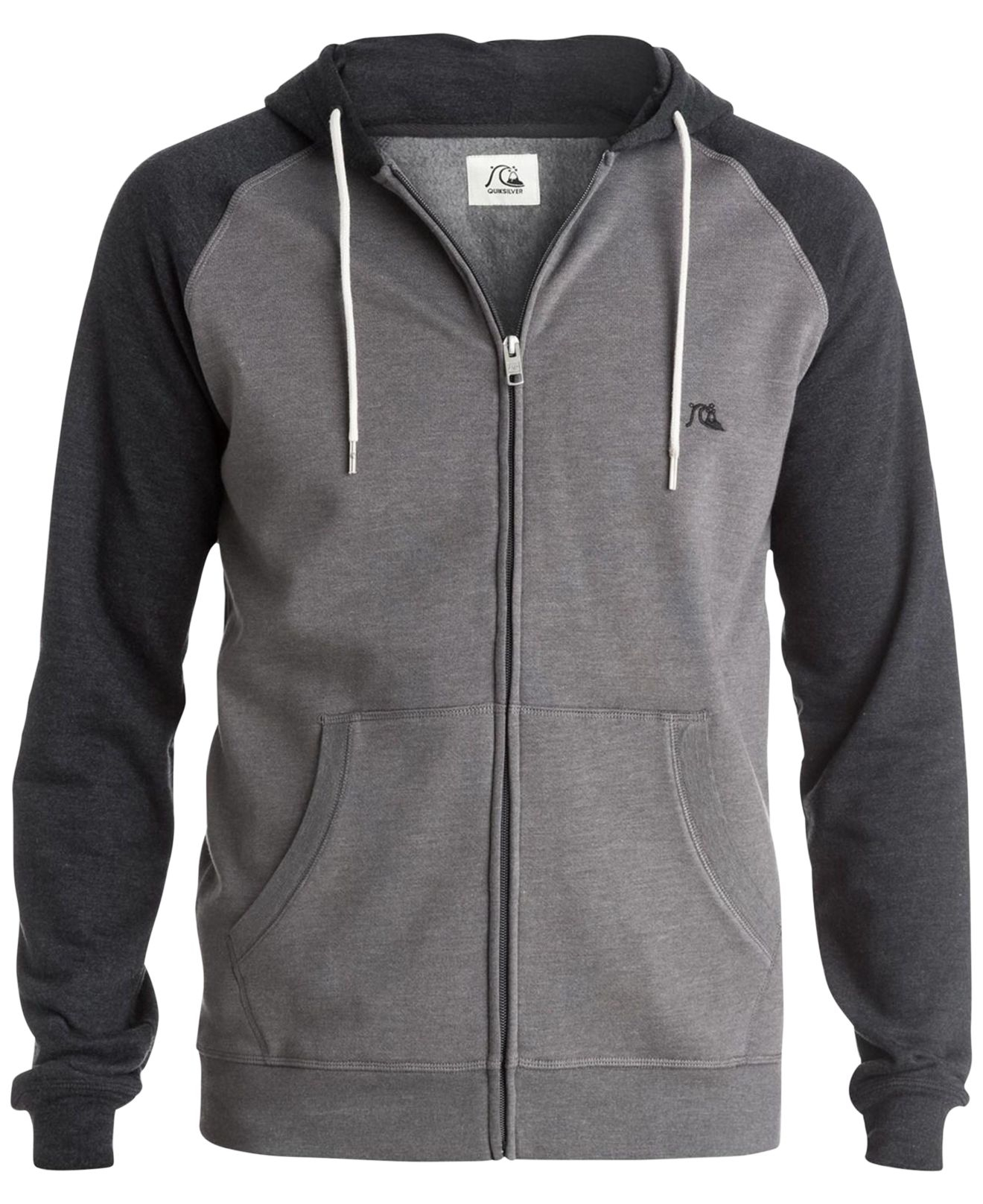 8efaedda84 Quiksilver Gray Major Block Colorblocked Full-zip Hooded Sweatshirt for men