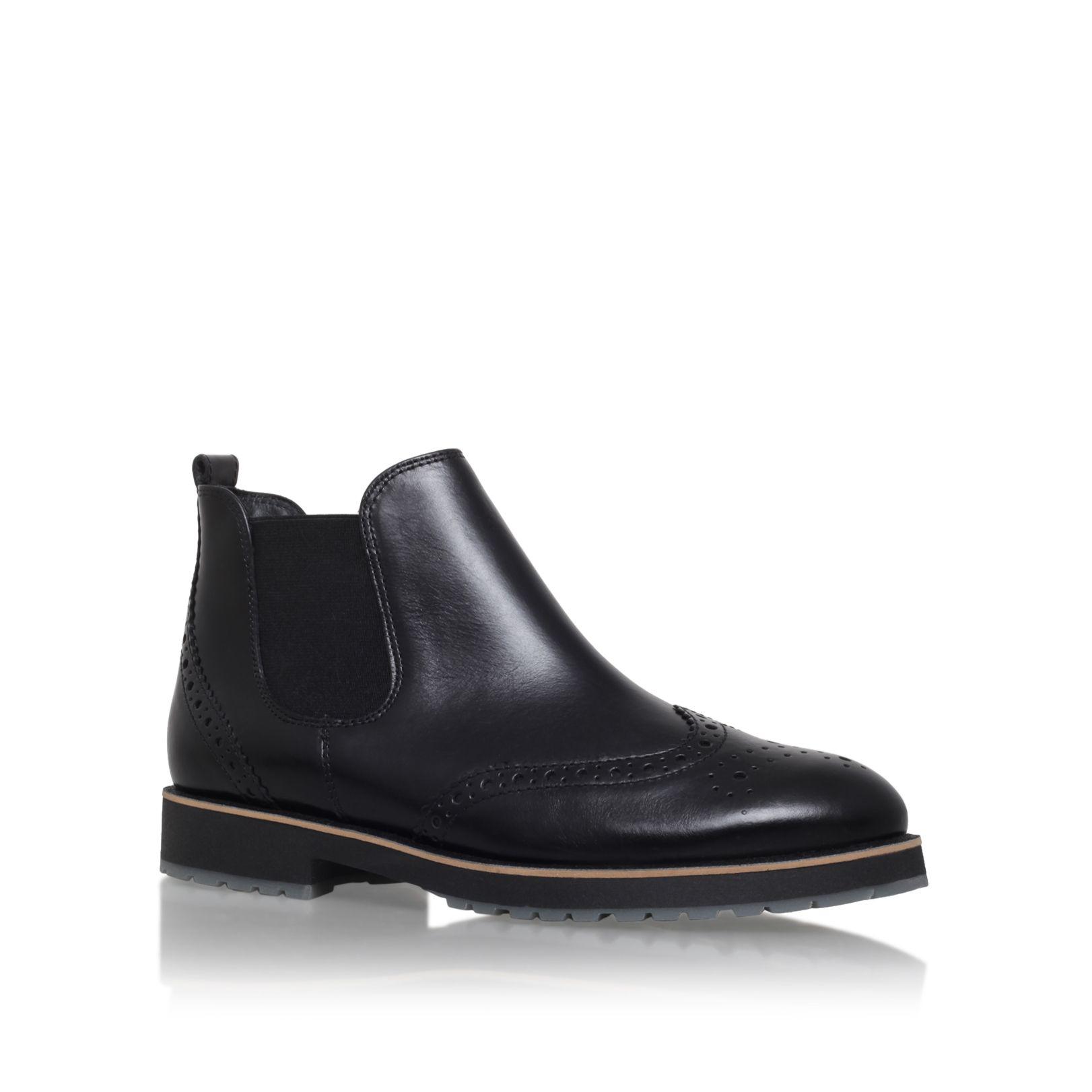 paul green chelsea fl bt low heel ankle boots in black for men lyst. Black Bedroom Furniture Sets. Home Design Ideas