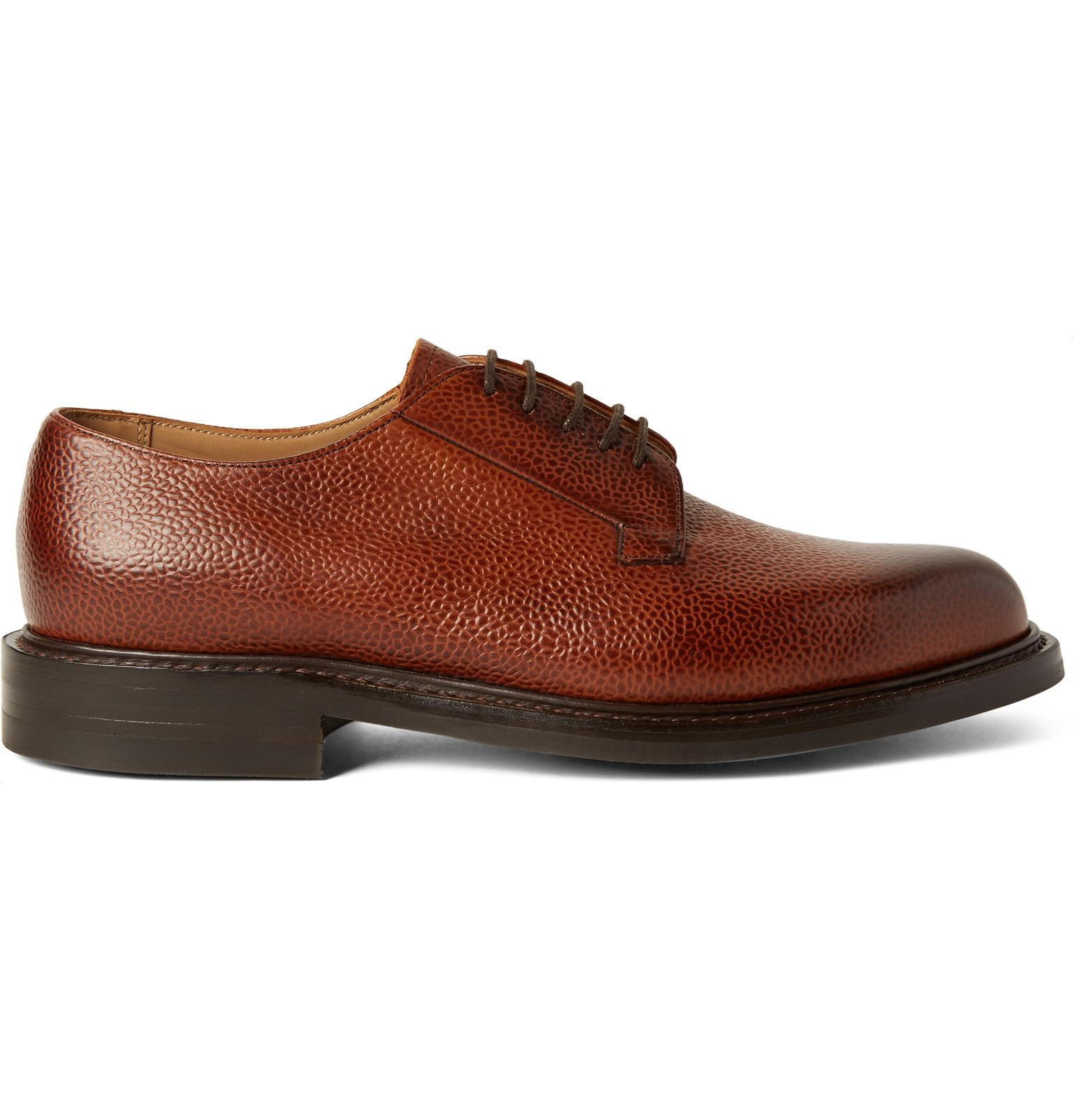 Men S Pebble Grain Leather Shoes