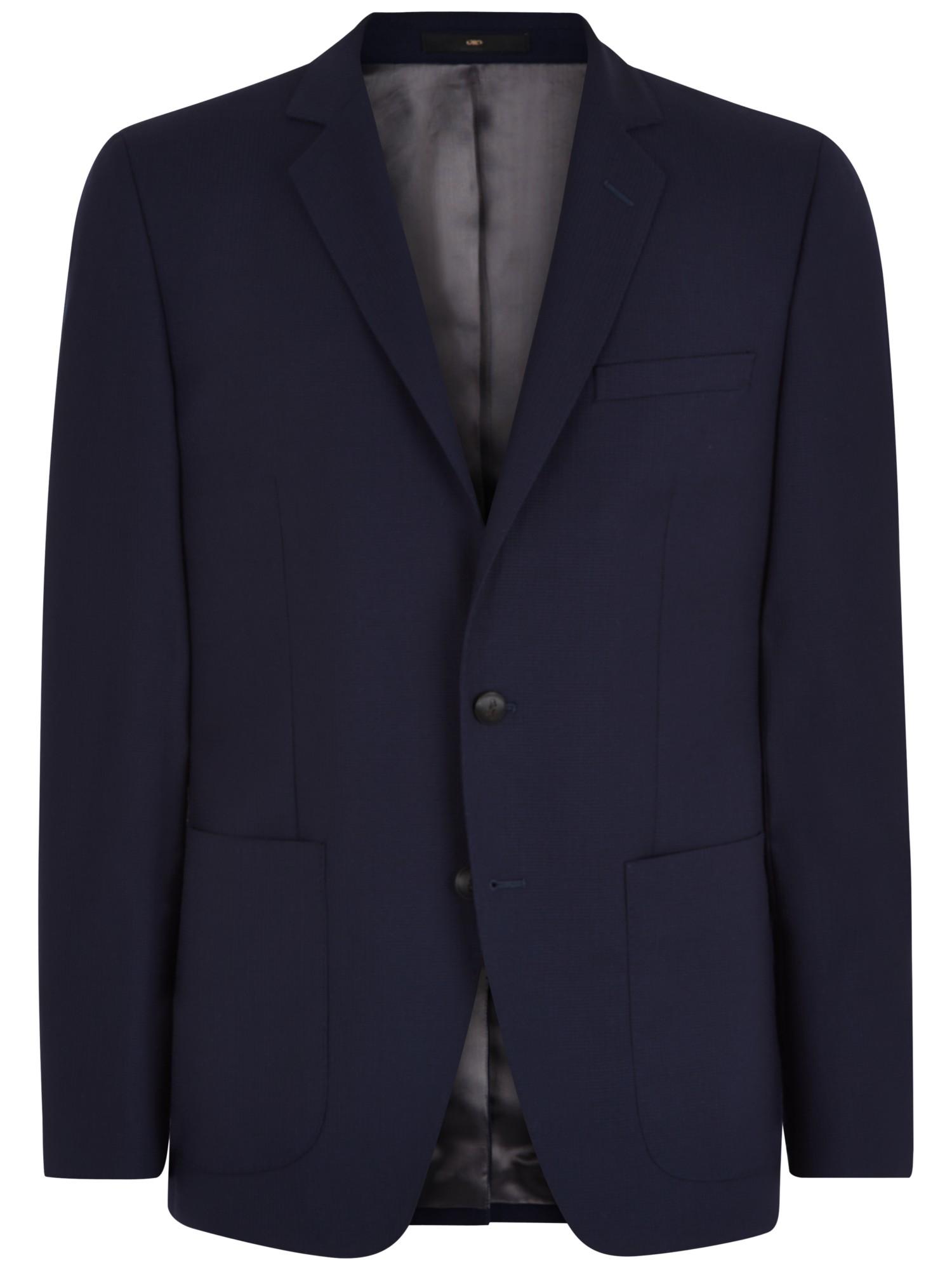 Lyst Jaeger Textured Cotton Slim Fit Blazer In Blue For Men