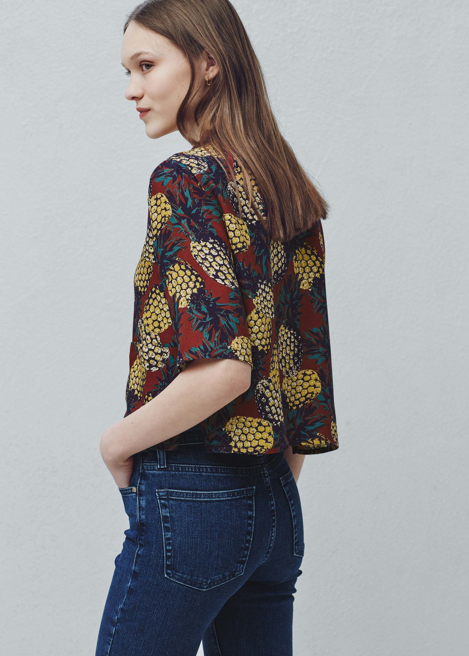 MANGO Printed flowy shirt Free Shipping Best Prices 5gNsR