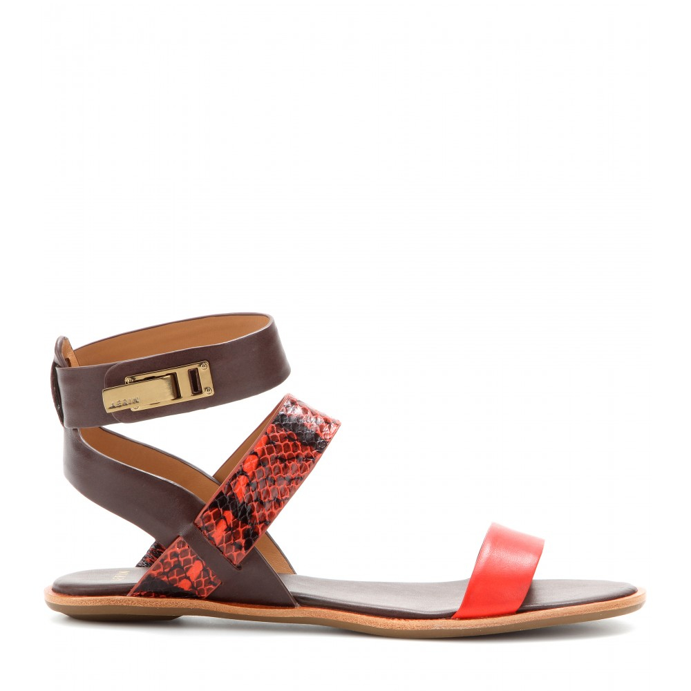 AERIN Snakeskin Embellished Sandals cheap amazing price buy cheap high quality rSJa6