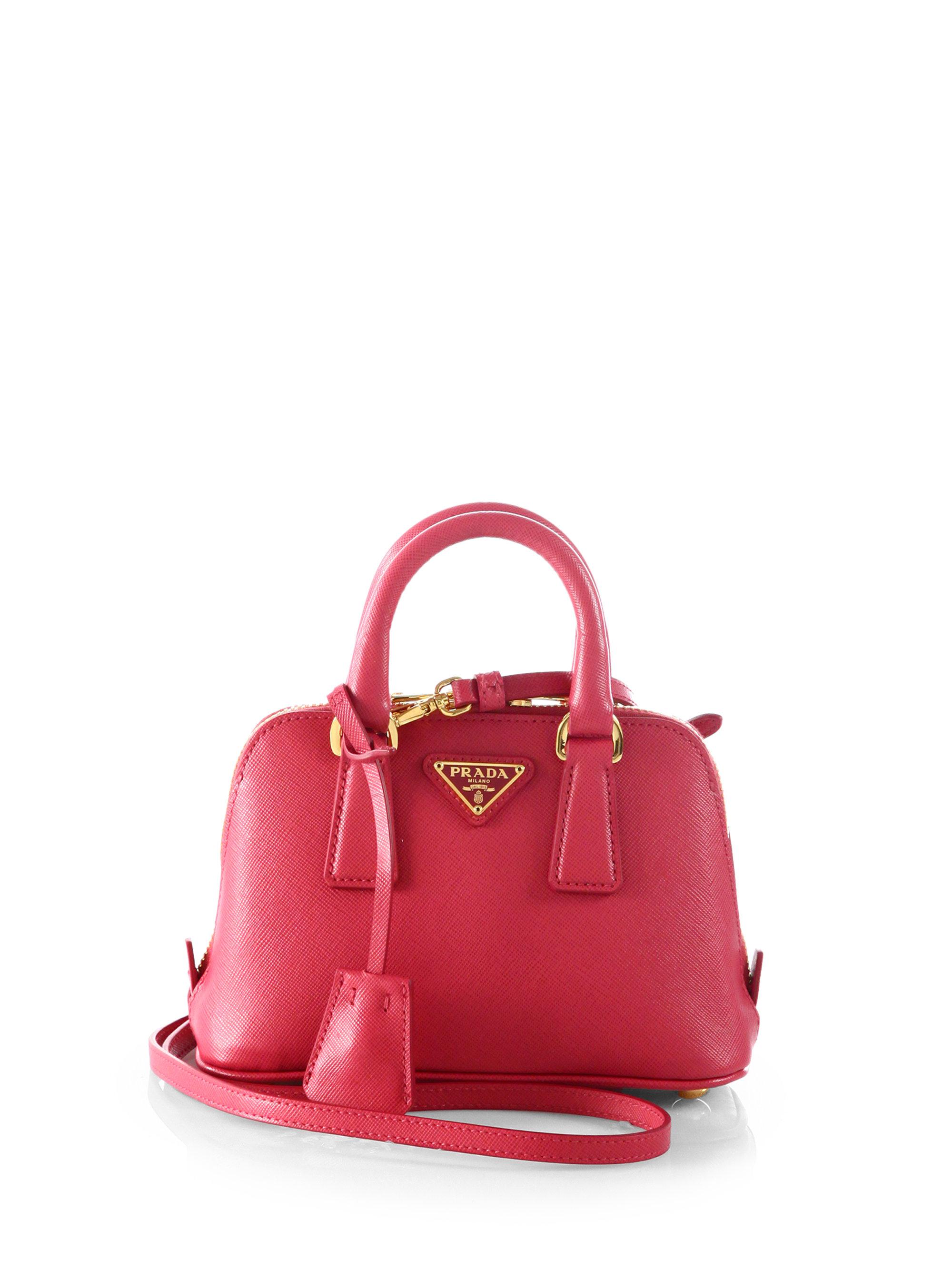 c185fcd335e7fc ... new zealand lyst prada saffiano lux double handle mini satchel in pink  aa338 8f188