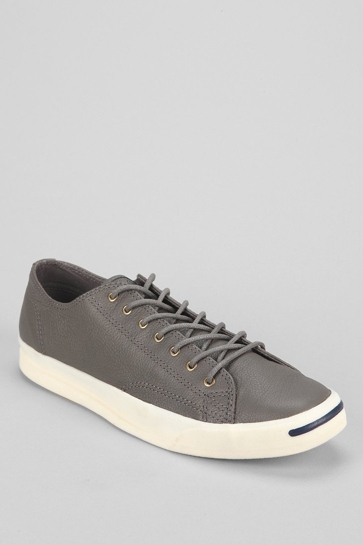 6000c186121859 Lyst - Converse Jack Purcell Jeff Leather Sneaker in Gray for Men