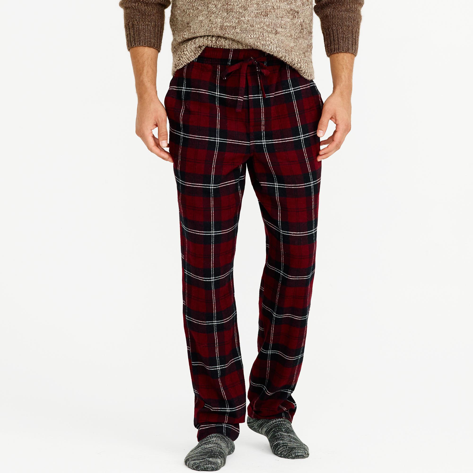 a67e8e7b0c7 Lyst - J.Crew Flannel Pajama Pant In Burgundy Plaid in Purple for Men