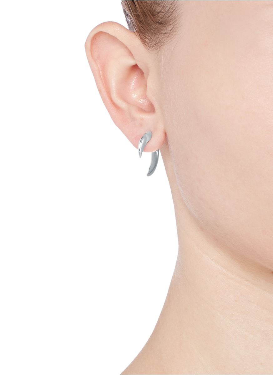 Shaun Leane Silver Quill Earrings lzUkdTm