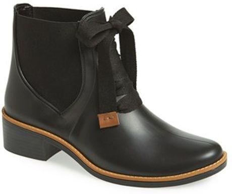 Bernardo Footwear Lacey Short Waterproof Rain Boot In Black