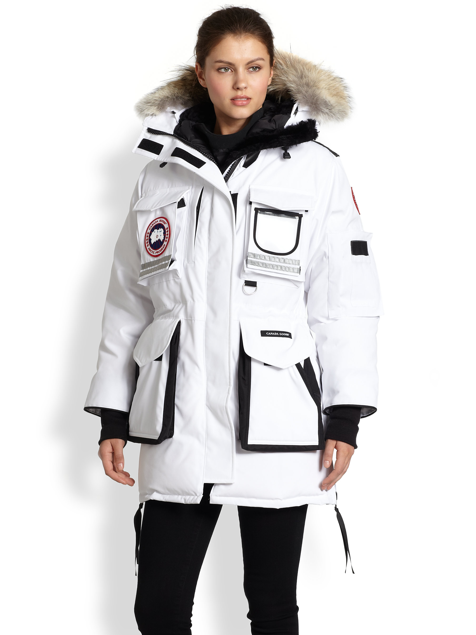 Canada Goose Fur Trimmed Snow Mantra Down Parka In White