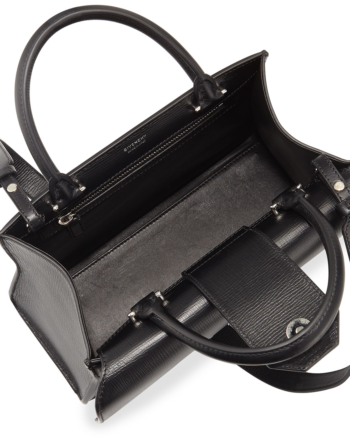 62fa6c9754c6 Kaitorikohi Chanel Chevron Top Steering Wheel Flap Bag Small. Gallery. Lyst  Givenchy Obsedia Top Handle Small Leather Satchel Bag In Black