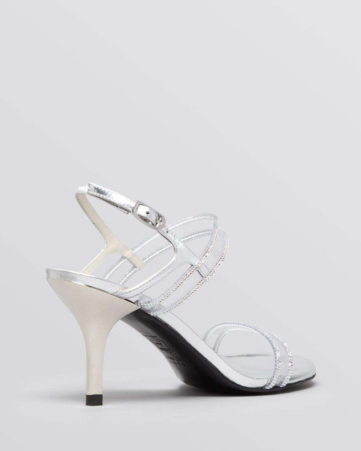 Evening Shoes Silver Low Heel