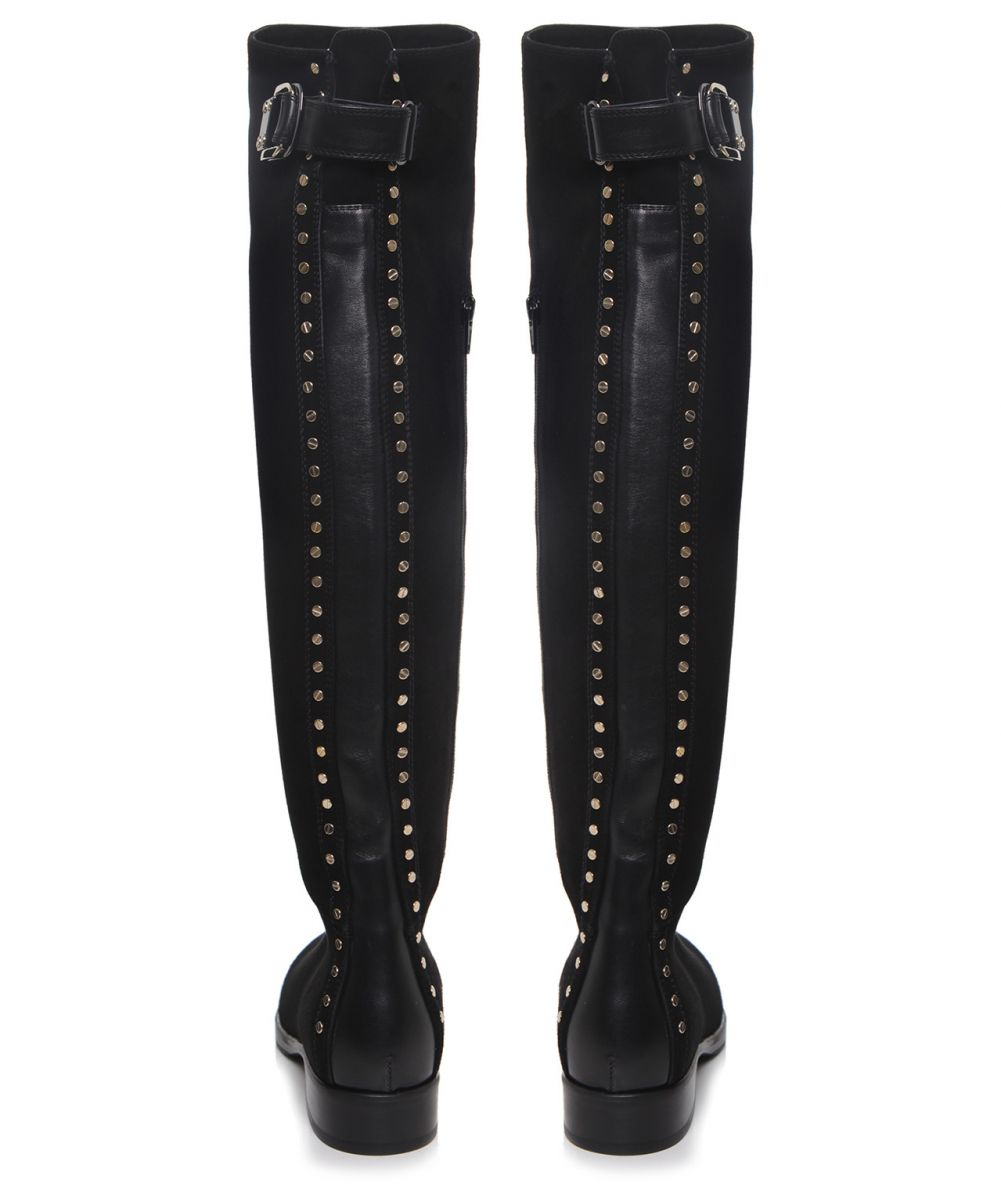Le pepe Studded Over Knee Boots in Black | Lyst