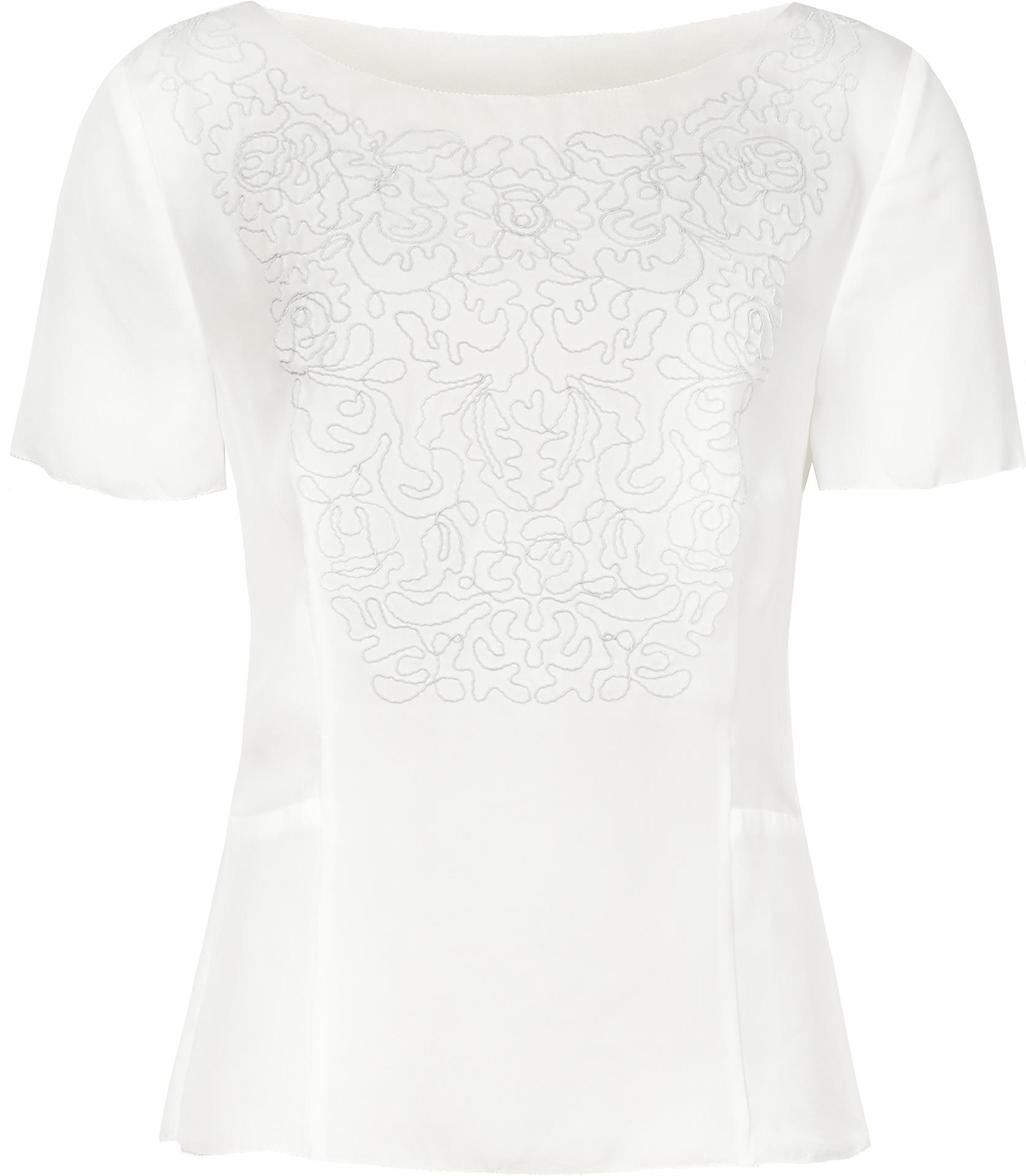 2308821a048830 Reiss Fleur Floral Detail Top in White - Lyst