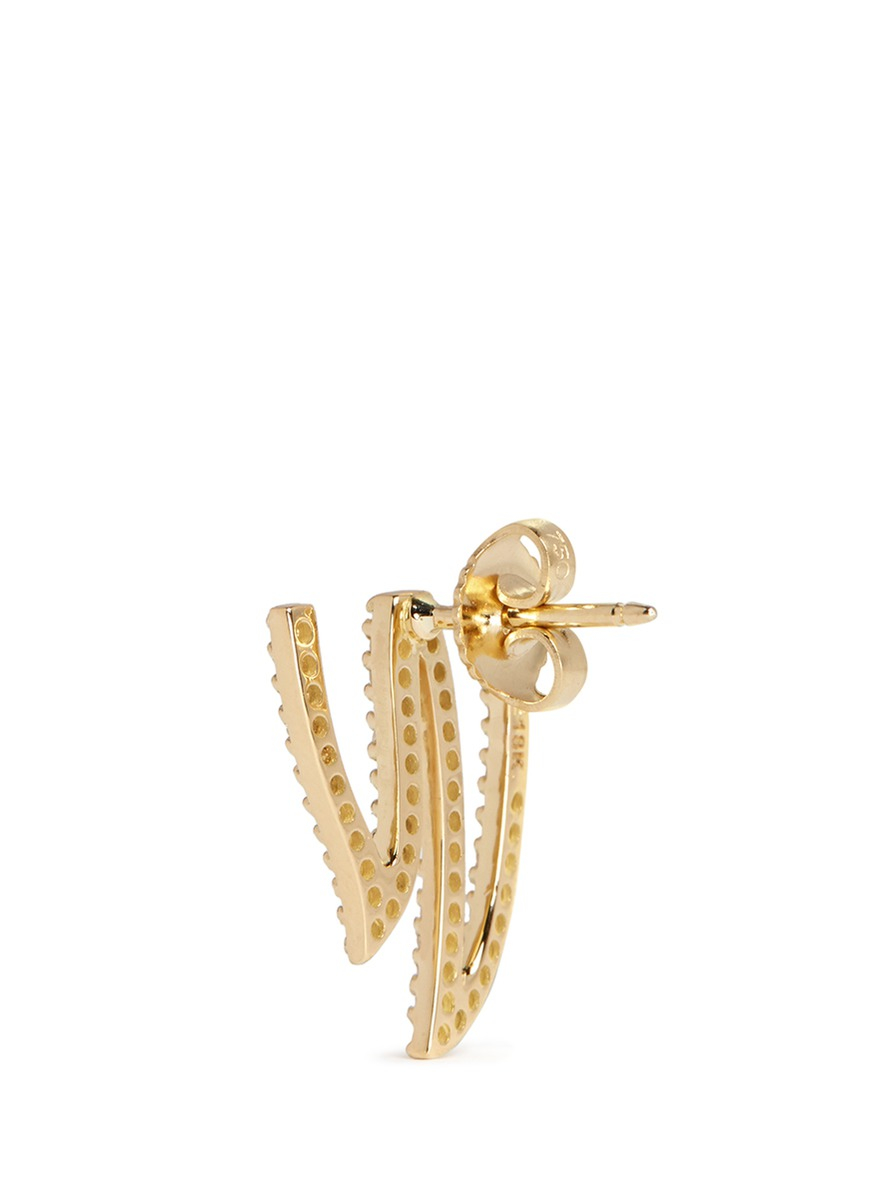 Phyne by paige novick 39 ines 39 mini 18k gold diamond pav for Mercedes benz 18k gold ring