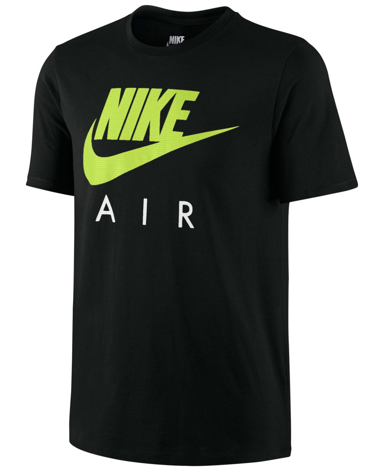 Lyst nike air logo graphic t shirt in green for men for Nike air shirt men