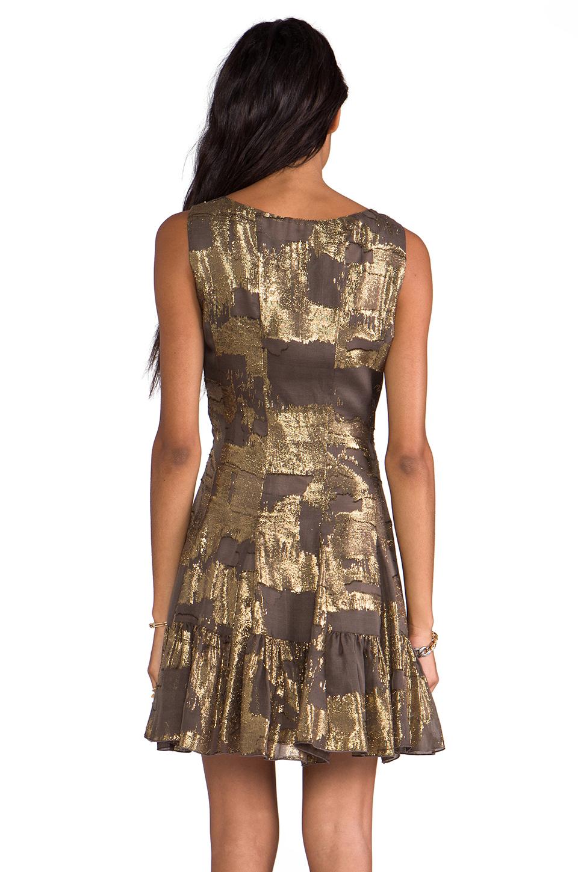 Lyst Anna Sui Klimt Print Burnout Metallic Stripe Velvet