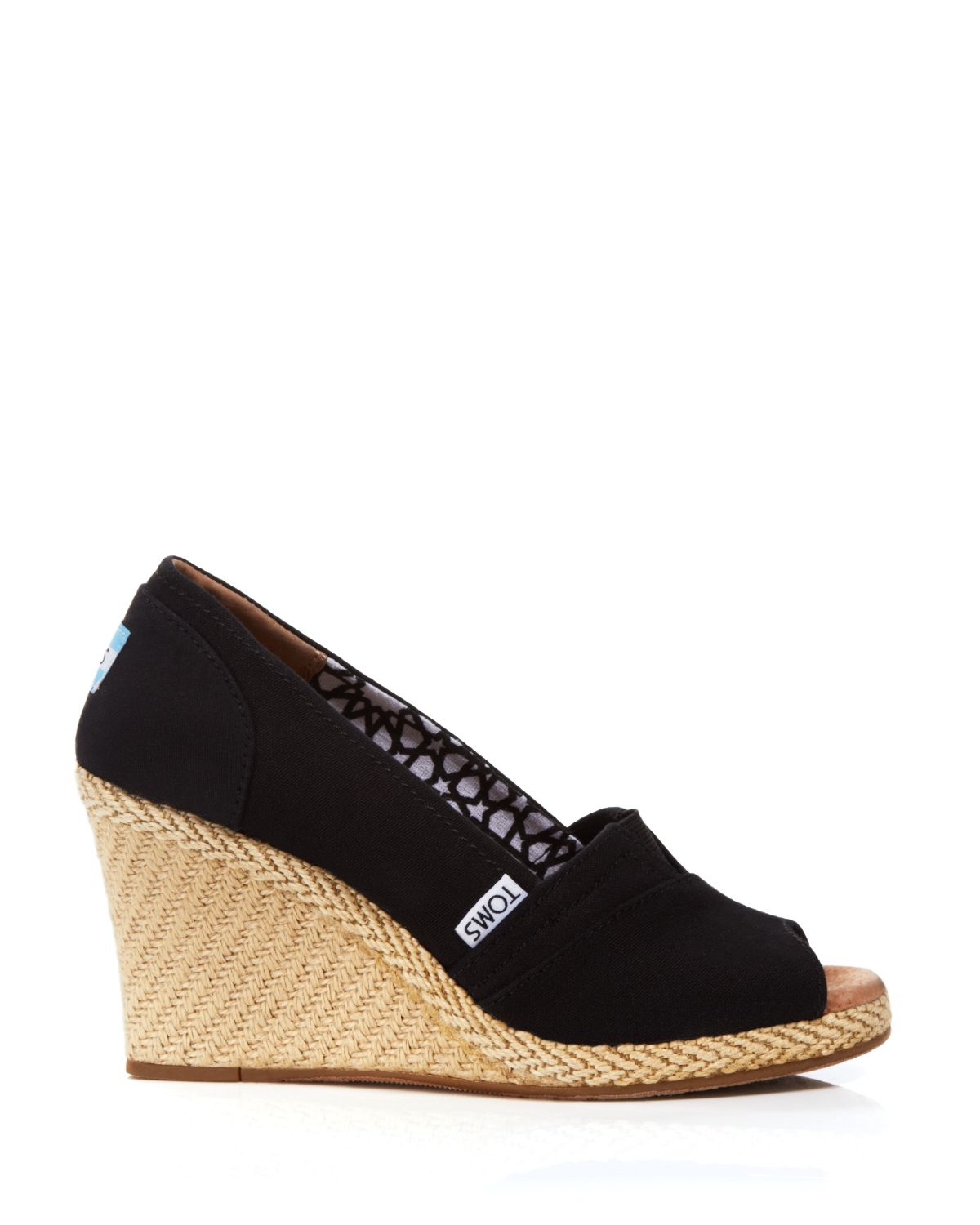 toms espadrille wedge sandals classic in brown lyst