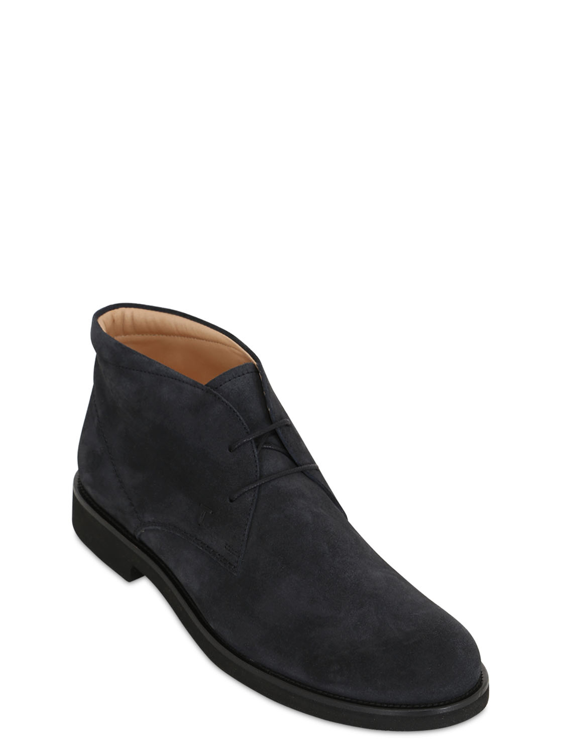 tod s suede chukka boots in blue for notte lyst