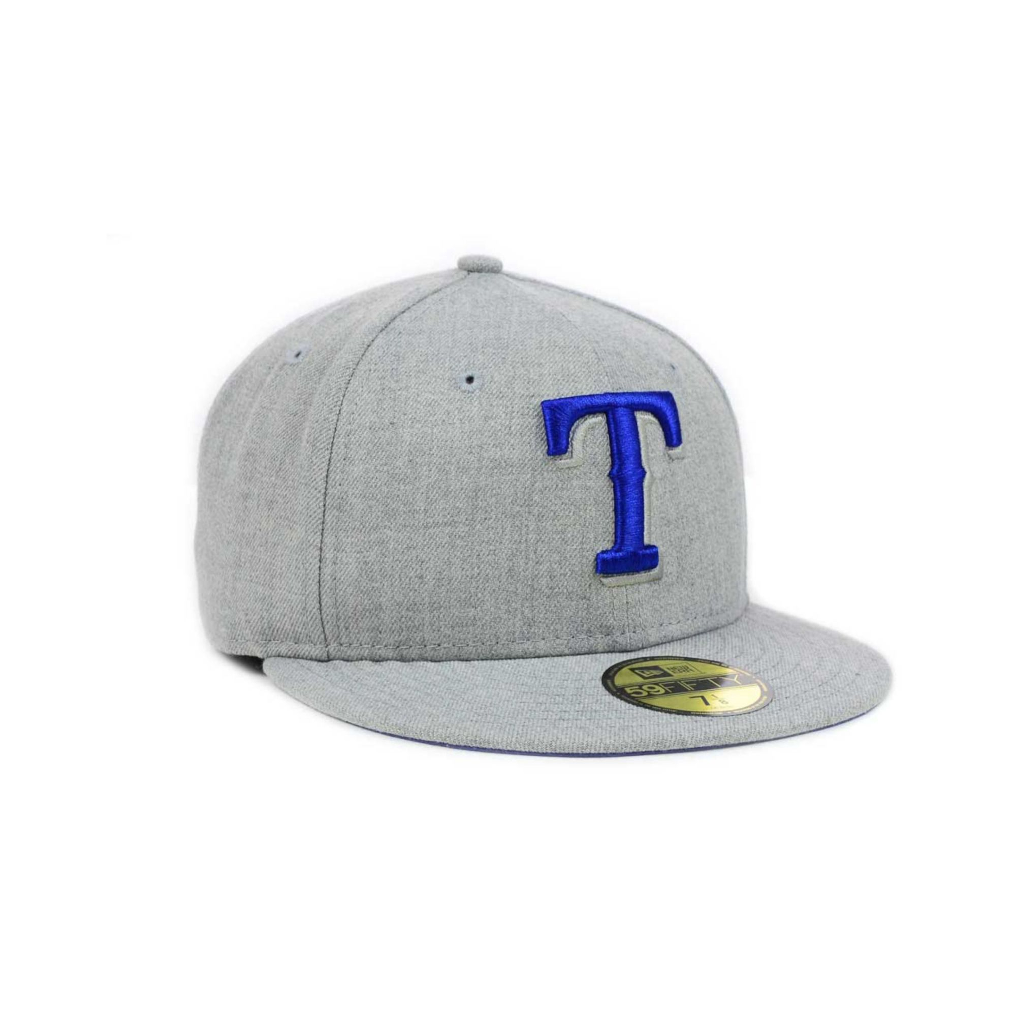 promo code 5bb8b d289a KTZ Texas Rangers Mlb Heather Basic 59fifty Cap in Gray for Men - Lyst