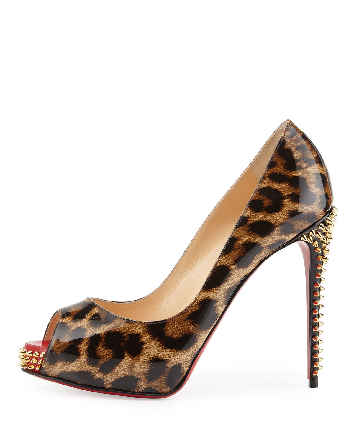 Christian louboutin Nvps Leopard-print Red Sole Pump in Brown | Lyst