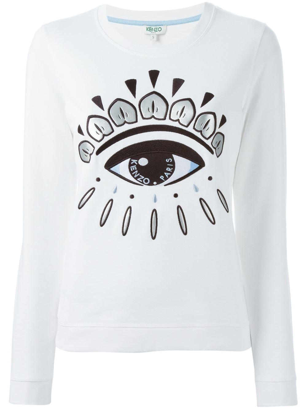 Lyst Kenzo Eye Sweatshirt In White