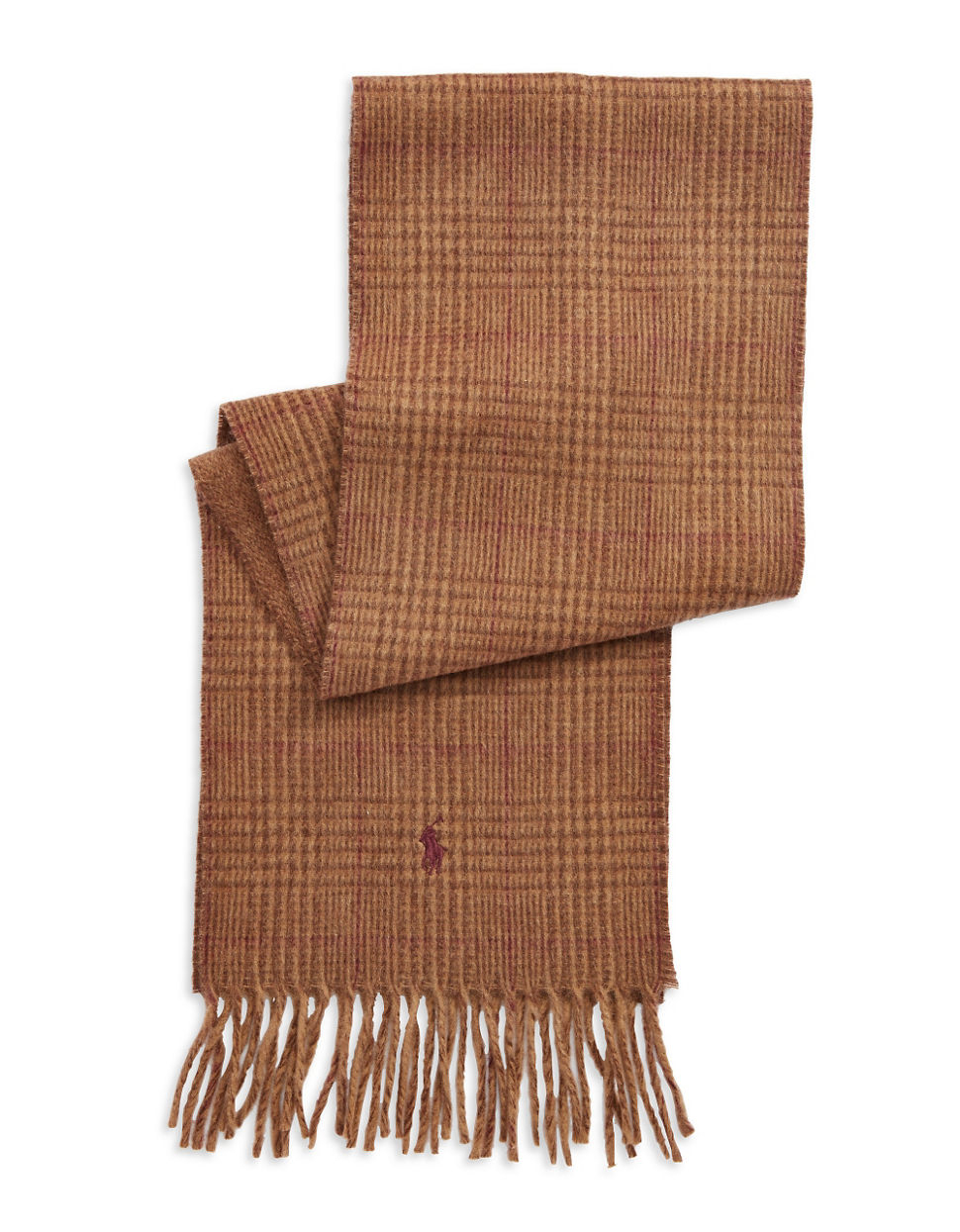 Polo Ralph Lauren Big Pony Jacquard Scarf This distinctive reversible scarf in a soft wool blend features an oversize signature pony logo at one end Finished with self-fringe edges and fringed ends 80 wool20 nylon reversible oversize signature pony logo a.
